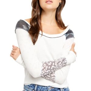 NWT Free People | Bright Side Thermal Top sz M